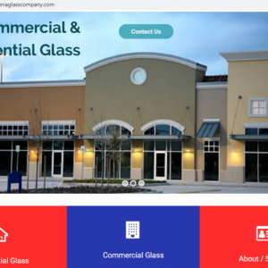 Glass Company Website Web Hosting Domain Name Included